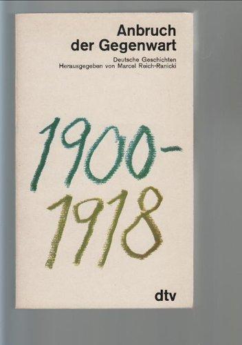 Anbruch Der Gegenwart, Deutsche Geschichten: Marcel Reich-Ranicki