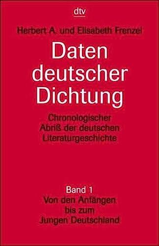 9783423030038: Daten Deutscher Dichtung: Band 1