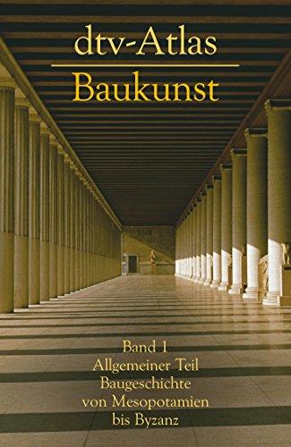 9783423030205: DTV-Atlas zur Baukunst: Tafeln und Texte (German Edition)