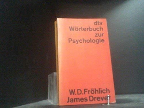 dtv-Wörterbuch zur Psychologie - WOERTERBUCH DER PSYCHOLOGY: Drever, James und