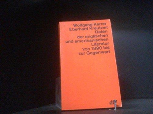 Daten der englischen und amerikanischen Literatur von: Karrer, Wolfgang /