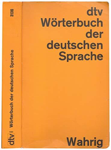 9783423031363: DTV-Worterbuch Der Deutschen Sprache (Orig-Ausg)
