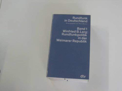RUNDFUNK IN DEUTSCHLAND Band 1 und 3 bis 5 (von 5): Bausch, Hans (Hrsg.)