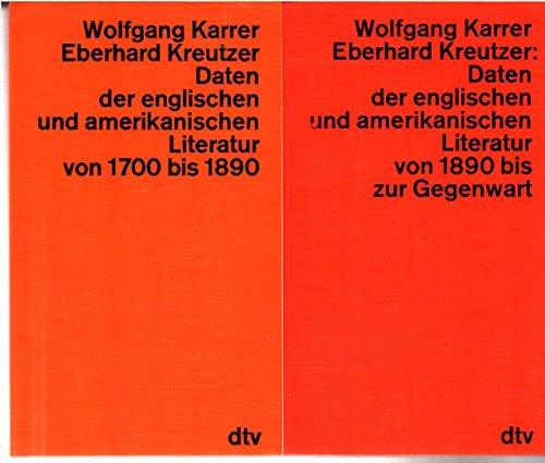 Daten der englischen und amerikanischen Literatur von: Wolfgang Karrer, Eberhard