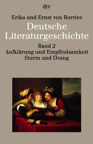 9783423033428: Deutsche Literaturgeschichte 2. Aufklärung und Empfindsamkeit, Sturm und Drang