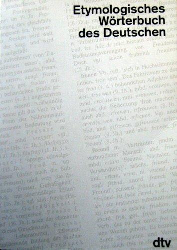 9783423033589: Etymologisches Wörterbuch des Deutschen
