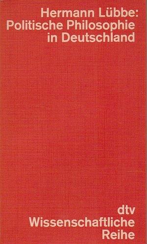 9783423041546: Politische Philosophie in Deutschland.