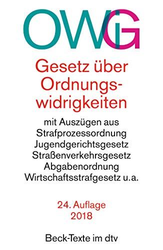 9783423050227: Gesetz über Ordnungswidrigkeiten (OWiG). Sonderausgabe.