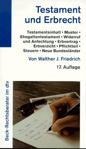 9783423050845: Testament und Erbrecht (Beck-Rechtsinformation) (German Edition)