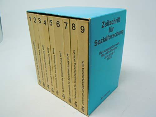 9783423059756: Zeitschrift für Sozialforschung