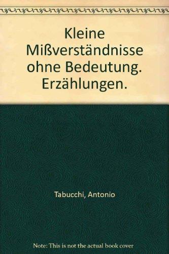 9783423109659: Kleine Mißverständnisse ohne Bedeutung. Erzählungen.