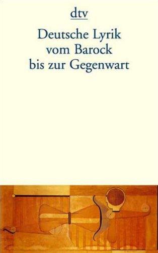 9783423123976: Deutsche Lyrik Vom Barock Bis Aur Gegenwart
