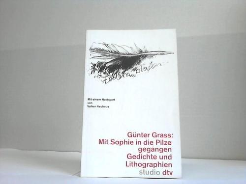 9783423190350: Mit Sophie In die Pilze Gegangen