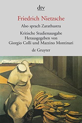 Also sprach Zarathustra I - IV. Herausgegeben: Nietzsche, Friedrich