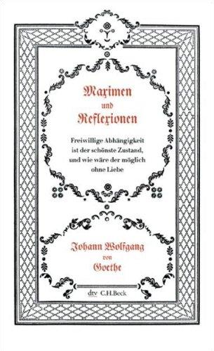 9783423343787: Maximen Und Reflexionen