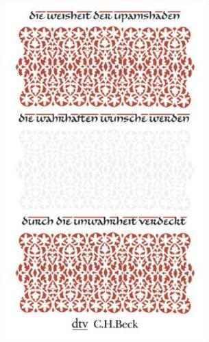 9783423343794: Die Weisheit der Upanishaden