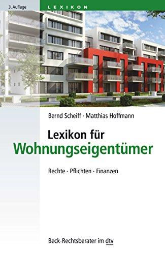 9783423507554: Lexikon f�r Wohnungseigent�mer: Rechte � Pflichten � Finanzen