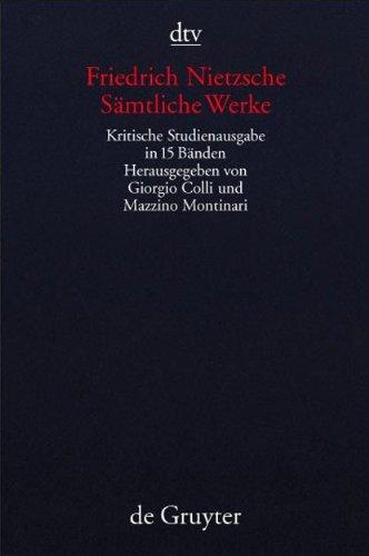 9783423590655: Sämtliche Werke: Kritische Studienausgabe in 15 Bänden