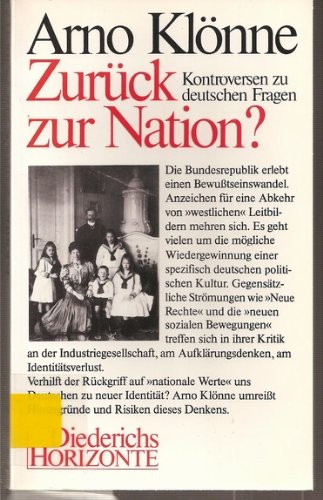 9783424008227: Zuruck Zur Nation? (Diederichs Horizonte)