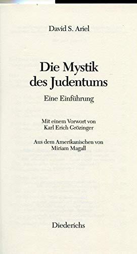 9783424011906: Die Mystik des Judentums. Eine Einführung