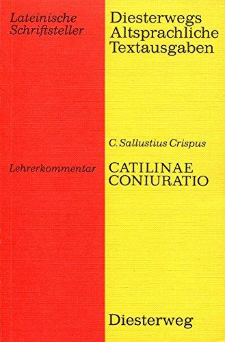 9783425043197: Catilinae Coniuratio. Lehrerkommentar