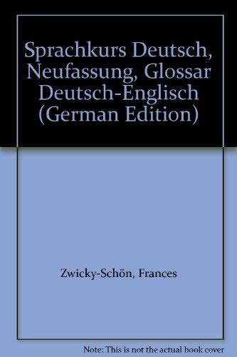 9783425059112: Sprachkurs Deutsch Neufassung - Level 1: Glossar 1 (German Edition)