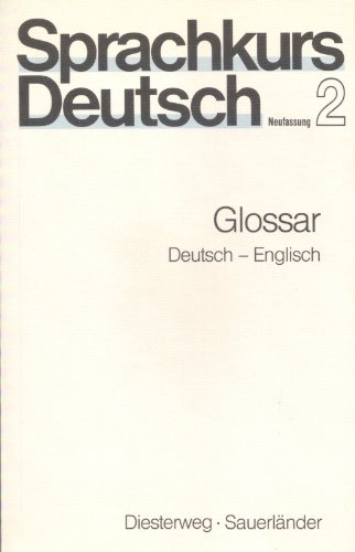 9783425059211: Sprachkurs Deutsch Neufassung: Glossar 2 (German Edition)