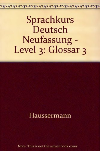 9783425059310: Sprachkurs Deutsch Neufassung - Level 3: Glossar 3