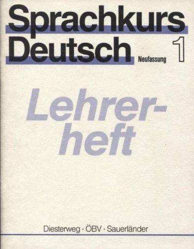 9783425059518: Sprachkurs Deutsch 1 Lehrerheft