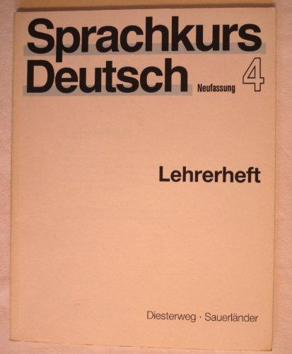 9783425059549: Sprachkurs Deutsch Neufassung - Level 4: Lehrerheft 4