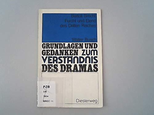 Grundlagen Und Gedanken: Furcht Und Elend DES: Brecht