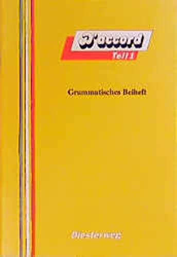 9783425065748: D'accord: Grammatisches Beiheft 1