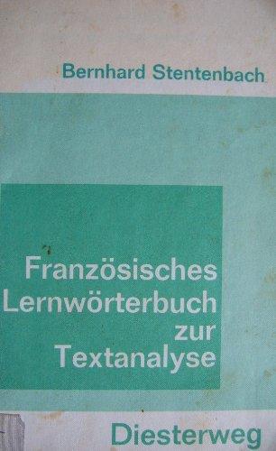 9783425067223: Französisches Lernwörterbuch zur Textanalyse