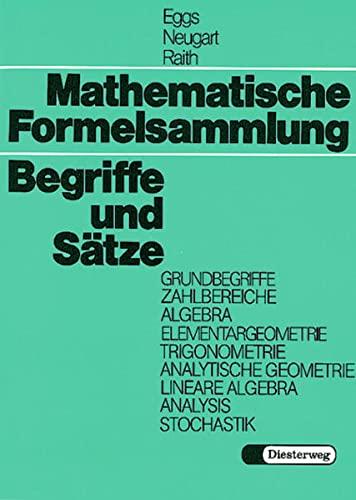 Mathematische Formelsammlung,Begriffe
