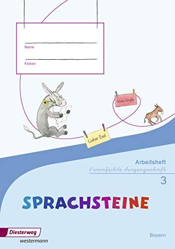 9783425127132: SPRACHSTEINE Sprachbuch 3. Arbeitsheft. Vereinfachte Ausgangsschrift VA. Bayern: Ausgabe 2014