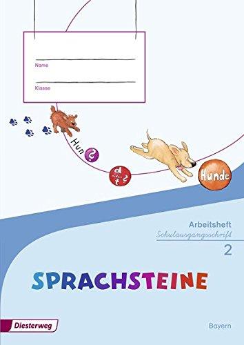 9783425127194: SPRACHSTEINE Sprachbuch 2. Arbeitsheft. SAS Schulausgangsschrift + Beilage Wörterkasten. Bayern: Ausgabe 2014