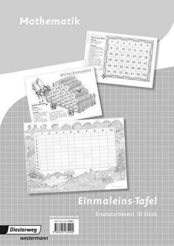 9783425135090: Flex und Flo - Ausgabe 2014: Ersatzsortiment: 10 S�tze Einmaleinstafel