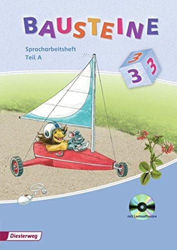 9783425143828: Bausteine Spracharbeitsheft 3. Teil A und B mit Lernsoftware: Ausgabe 2008