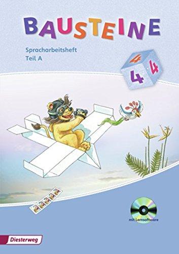 9783425144825: BAUSTEINE Spracharbeitsheft 4. Teil A und B im Paket mit CD-ROM: Ausgabe 2008