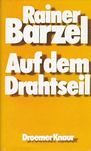 Auf dem Drahtseil (German Edition): Barzel, Rainer