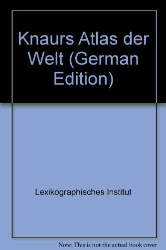 9783426262603: Knaurs Atlas der Welt (German Edition)