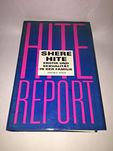 9783426266458: Hite Report, Erotik und Sexualität in der Familie