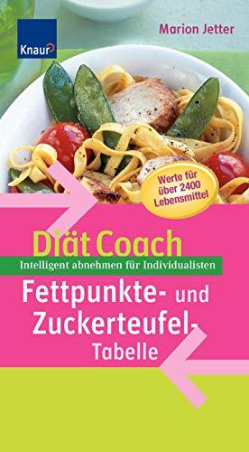 9783426644201: Diät-Coach Fettpunkte- und Zuckerteufel-Tabelle: Intelligent abnehmen für Individualisten. Werte für über 2400 Lebensmittel