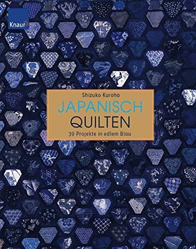 9783426647349: Japanisch Quilten: 39 Projekte in edlem Blau
