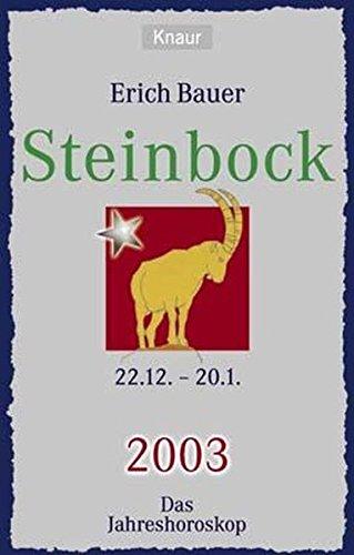 9783426776261: Das Jahreshoroskop 2003, Steinbock