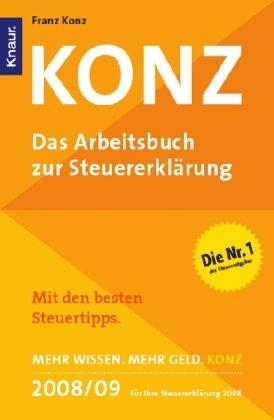 9783426781876: Konz - Das Arbeitsbuch zur Steuererkl�rung