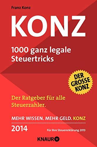 9783426786291: Konz: 1000 ganz legale Steuertricks