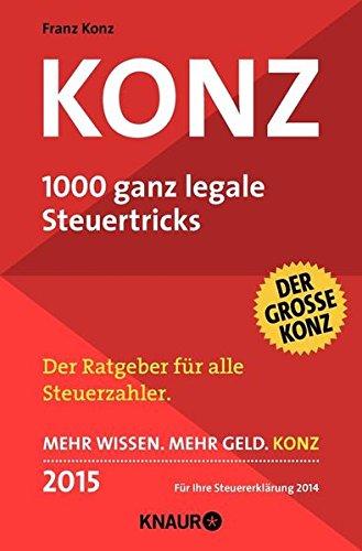 9783426787076: Konz: 1000 ganz legale Steuertricks