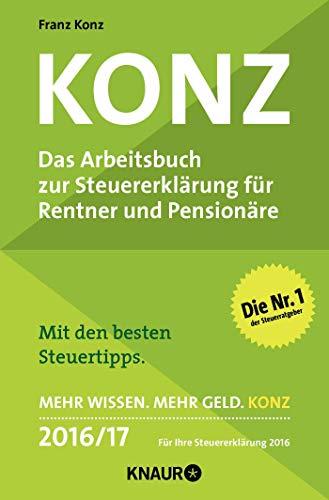 9783426788431: Konz: Das Arbeitsbuch zur Steuererklärung für Rentner und Pensionäre
