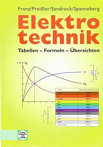 9783427036654: Elektrotechnik: Tabellen - Formeln - Übersichten